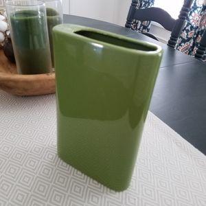 Ceramic green mod vase